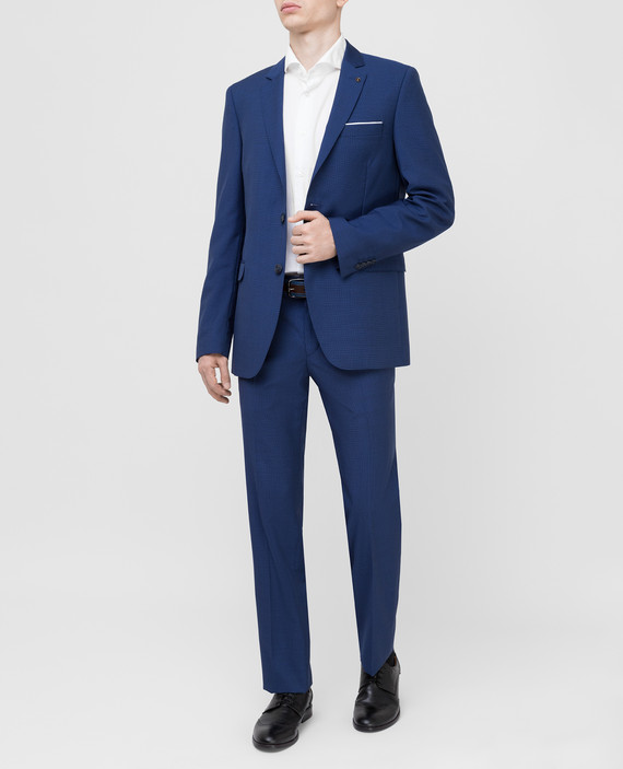 Темно-синий костюм из шерсти hover