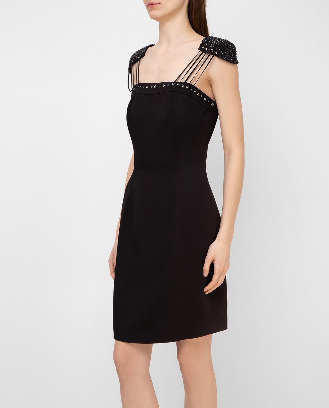 Philipp Plein Черное платье с кристаллами CWRG0060 изображение 3