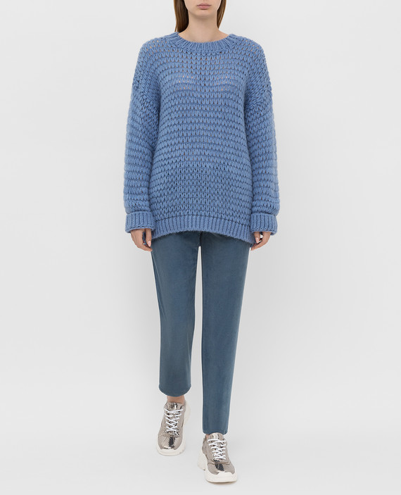 Синие вельветовые джинсы hover