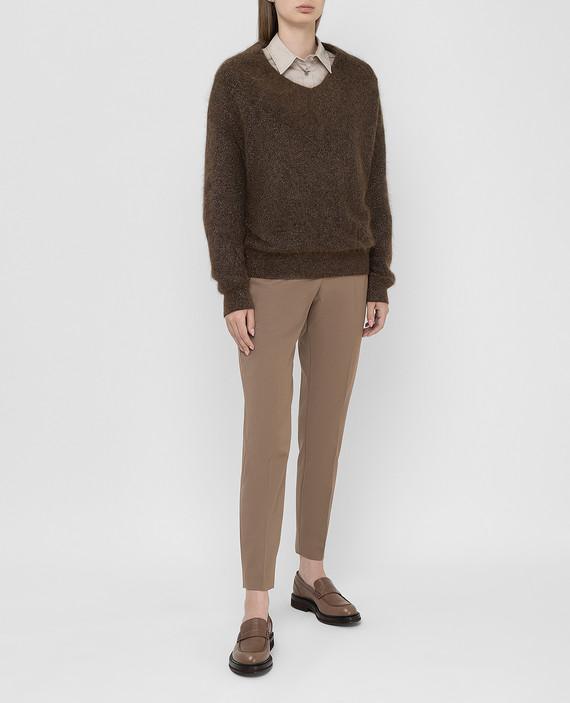 Коричневый пуловер hover