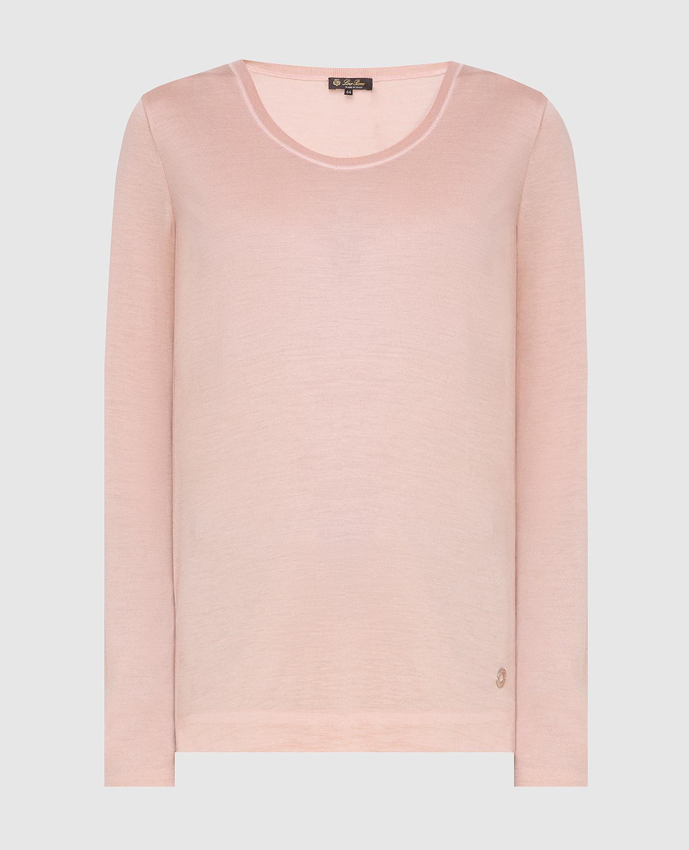 Розовый джемпер из кашемира и шелка