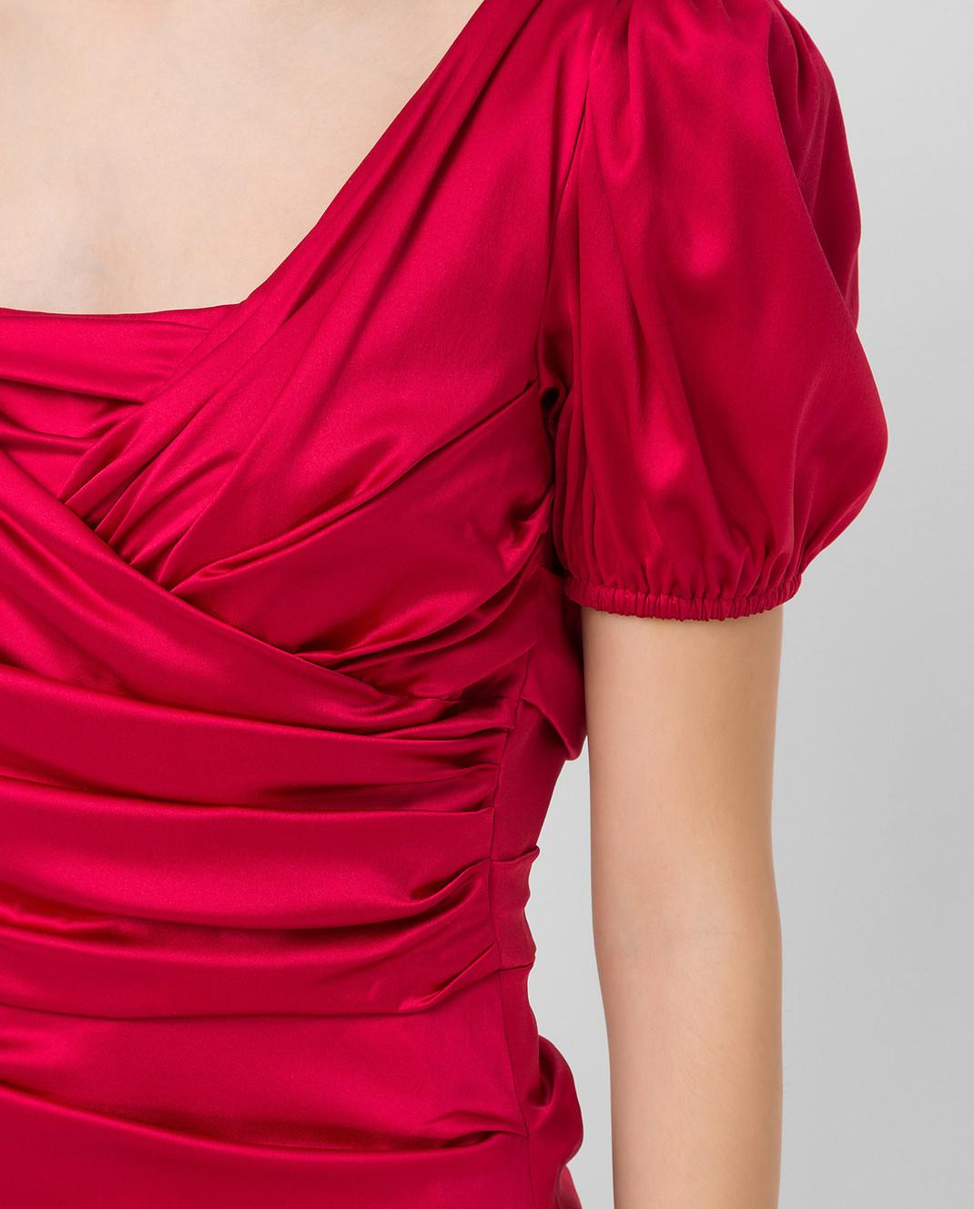Dolce&Gabbana Красное платье из шелка F62B2TFURAG изображение 5