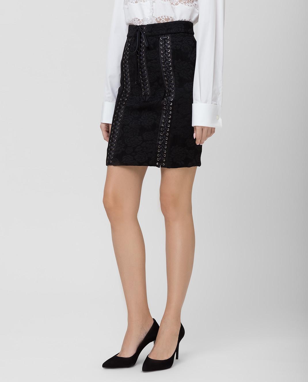 Dolce&Gabbana Черная юбка F4BIHTFJRCP изображение 3