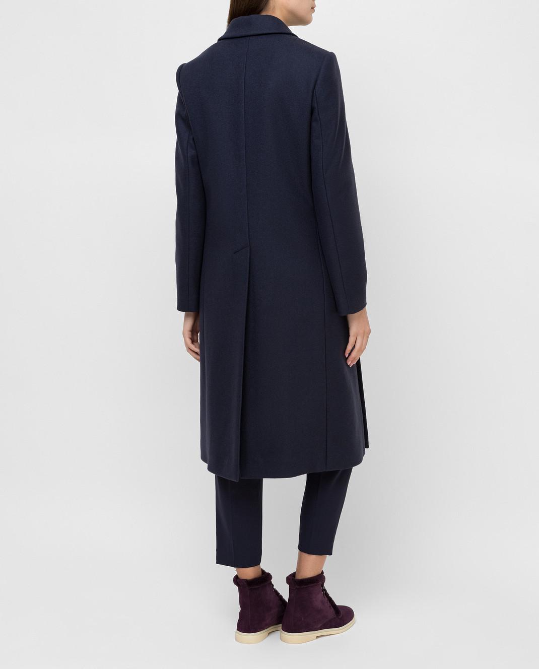 Brunello Cucinelli Темно-синее пальто из кашемира MA5324963 изображение 4