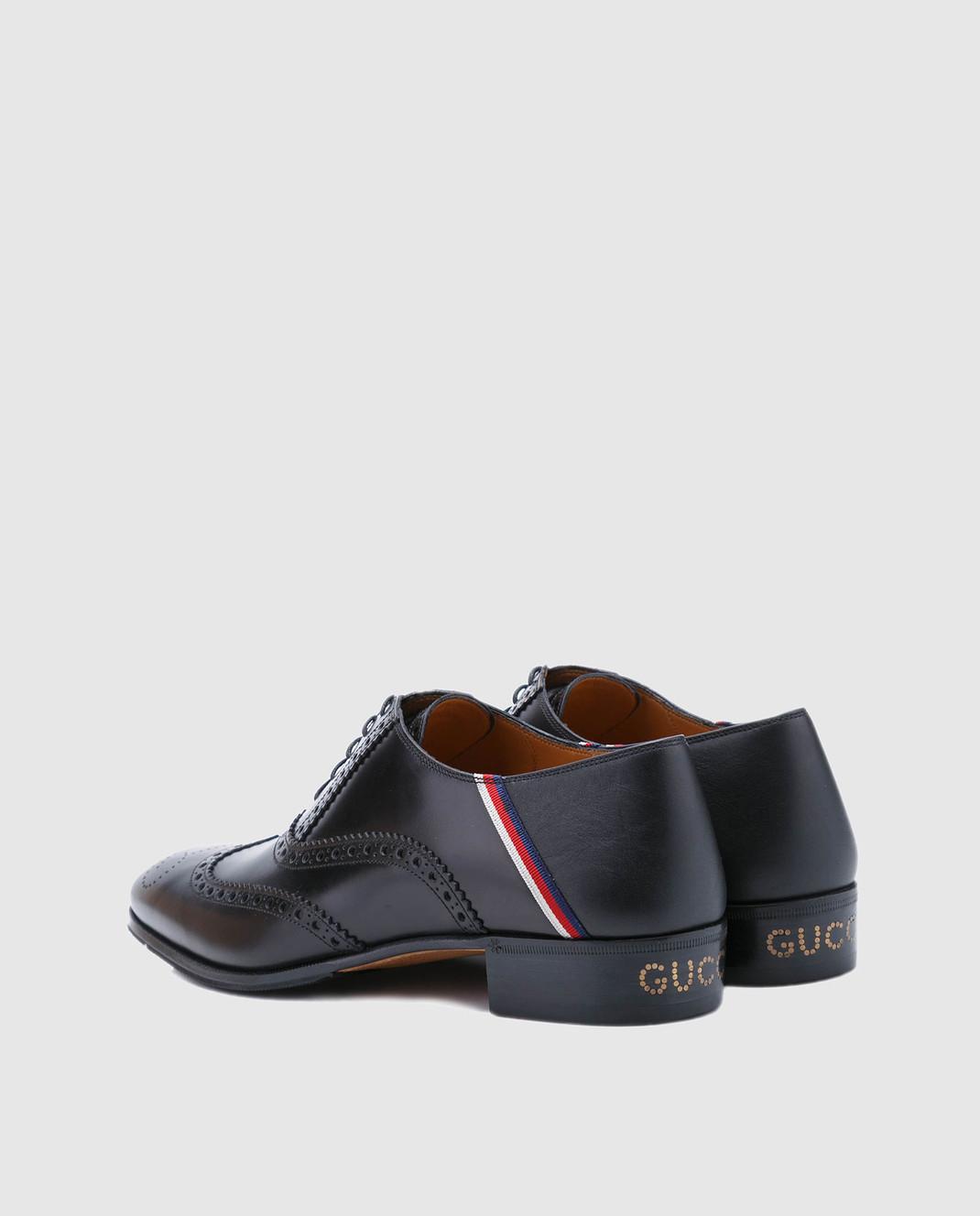 Gucci Черные кожаные броги 523282 изображение 3