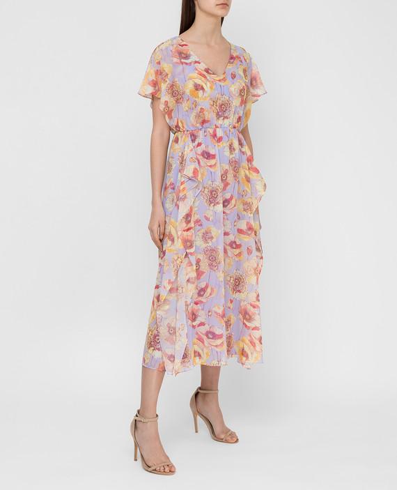 Сиреневое платье из шелка hover