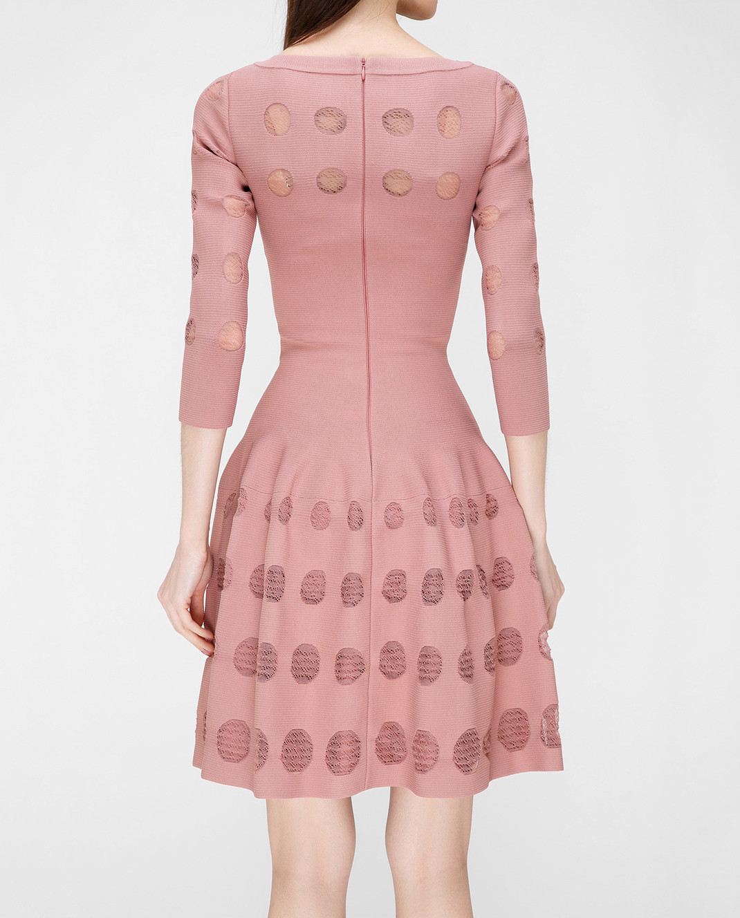 Azzedine Alaia Розовое платье с перфорацией изображение 4