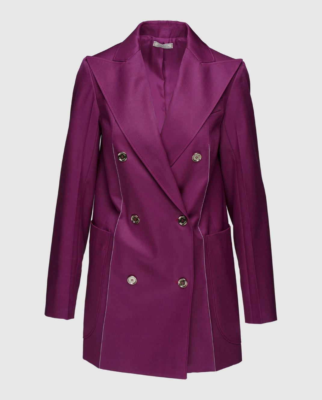 NINA RICCI Фиолетовый жакет из шерсти и шелка 17ECVE017WV0212
