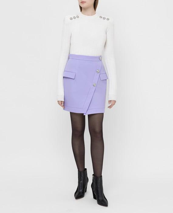 Сиреневая юбка из шерсти hover