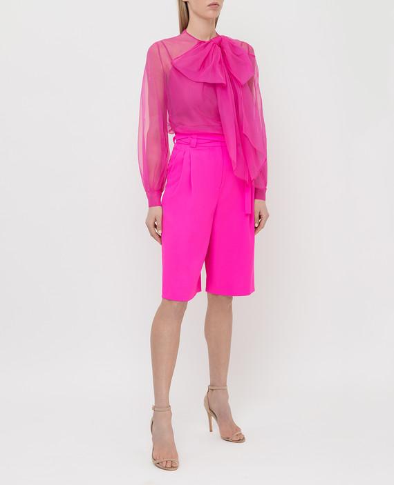 Розовые шорты из шерсти hover