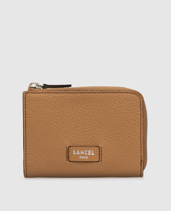 Светло-коричневый кожаный кошелек