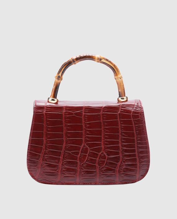Бордовая кожаная сумка hover