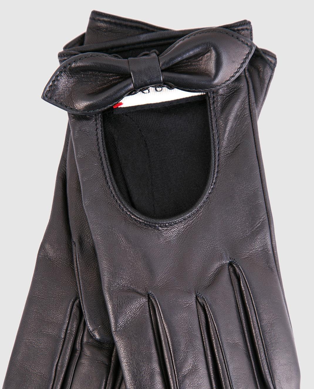 Gucci Черные кожаные перчатки 477968BAP00 изображение 3