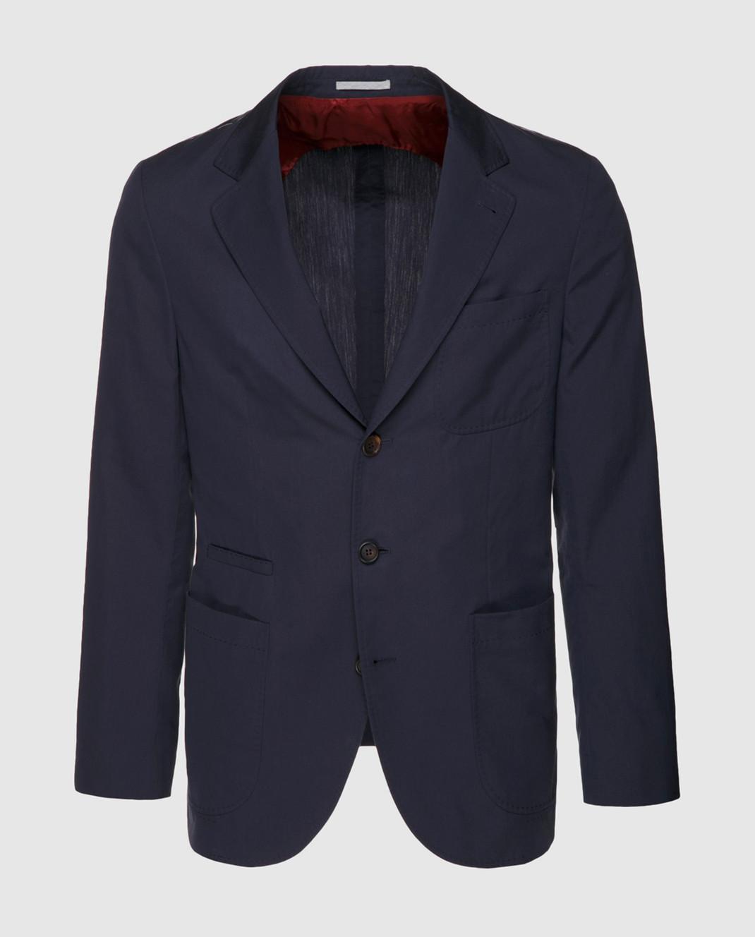 Brunello Cucinelli Темно-синий пиджак MD4007BND