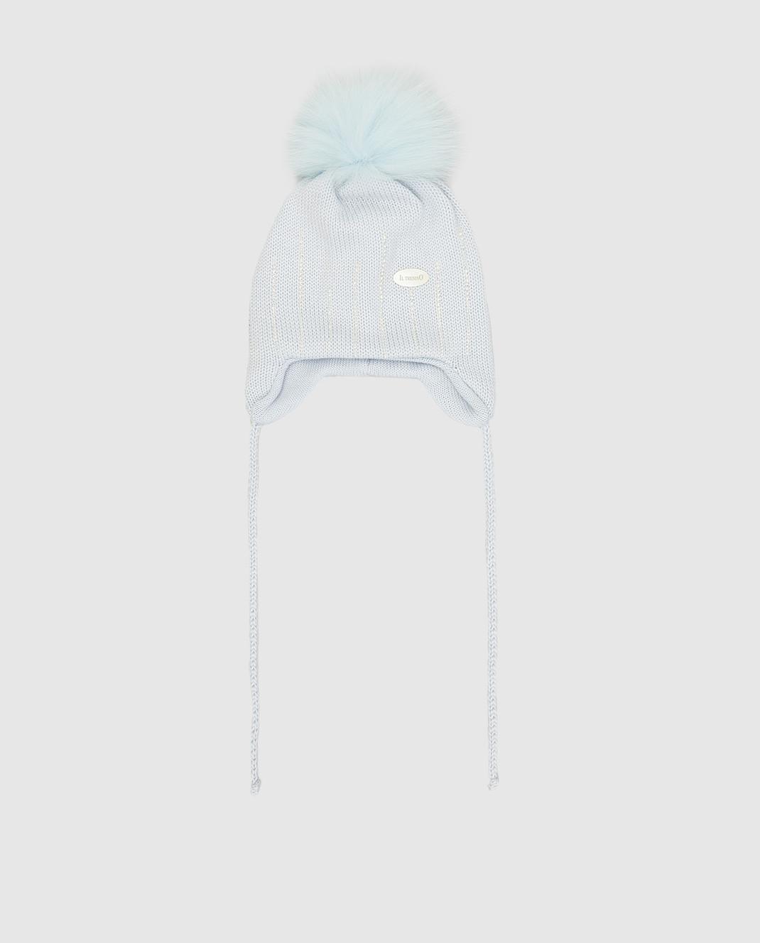Il Trenino Детская голубая шапка из шерсти изображение 1
