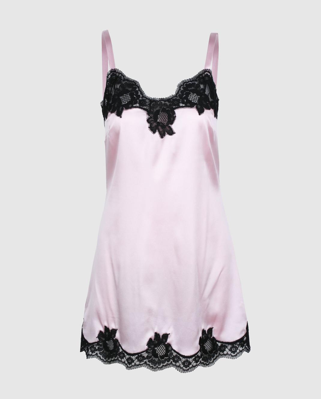Dolce&Gabbana Розовая комбинация из шелка O6A00TFUADG