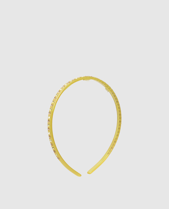 Желтый ободок с кристаллами hover