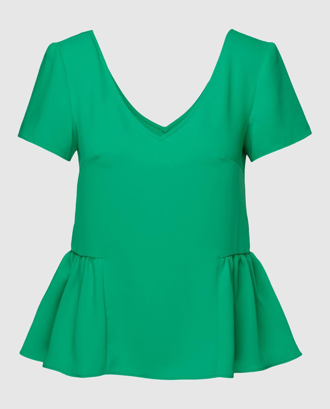 PAROSH Зеленая блуза D310311