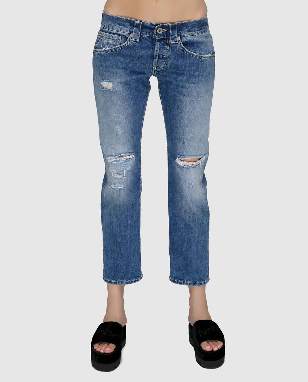 Dondup Синие джинсы P857DF140DO66 изображение 3