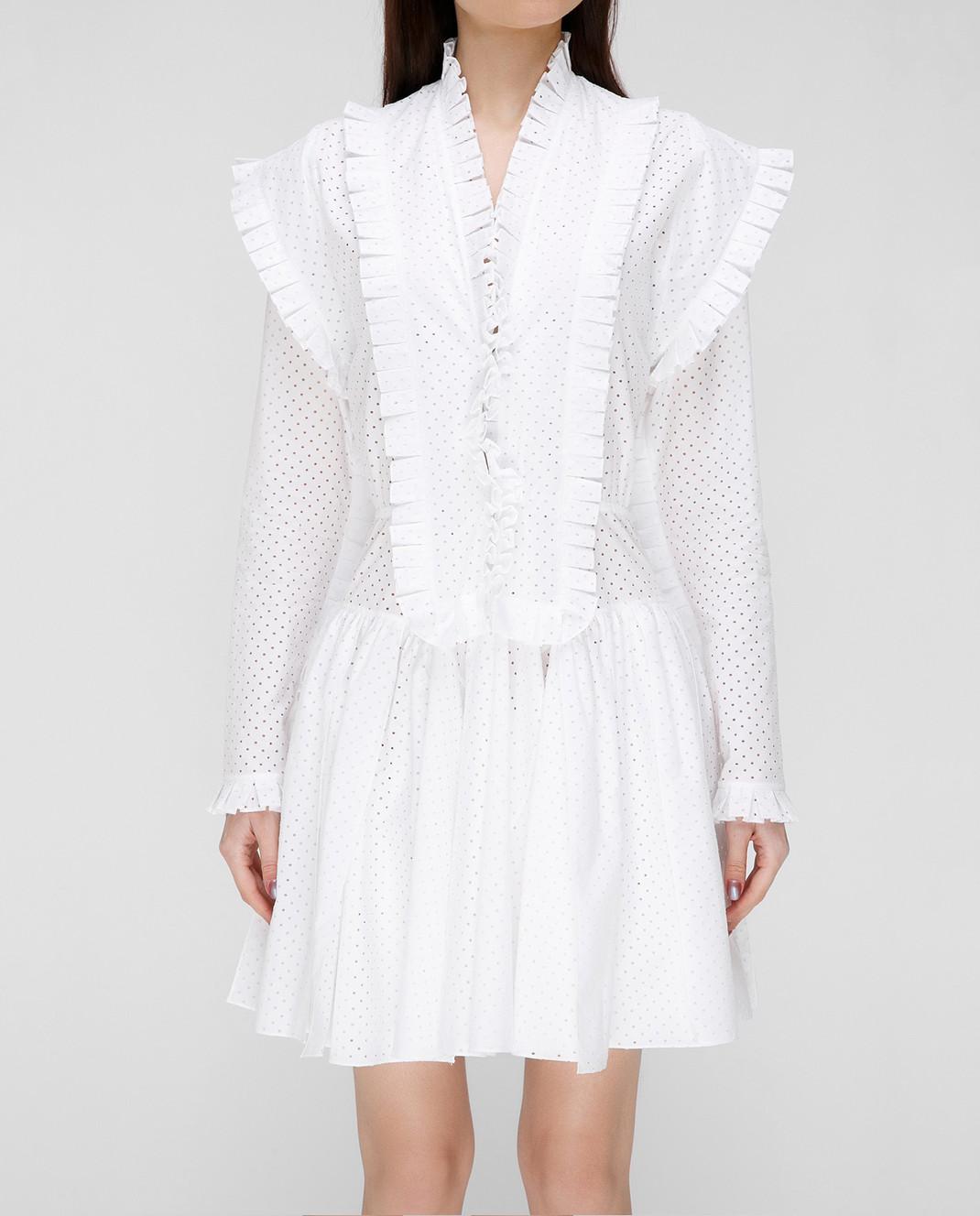 Azzedine Alaia Белое платье 7S9R054RTL48 изображение 3