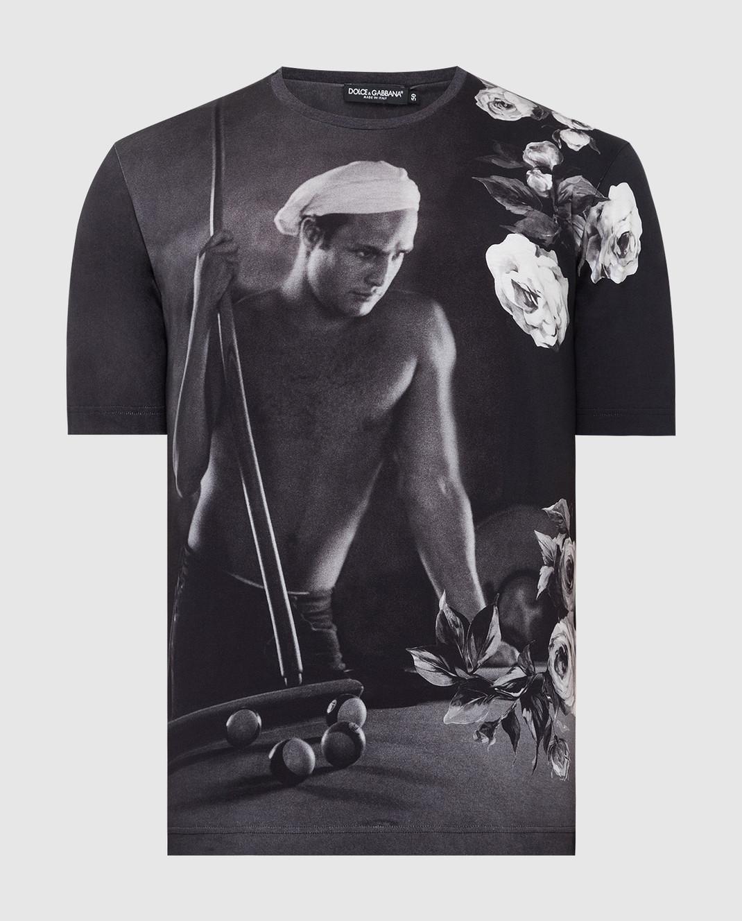Dolce&Gabbana Черная футболка G8GW5TFP718