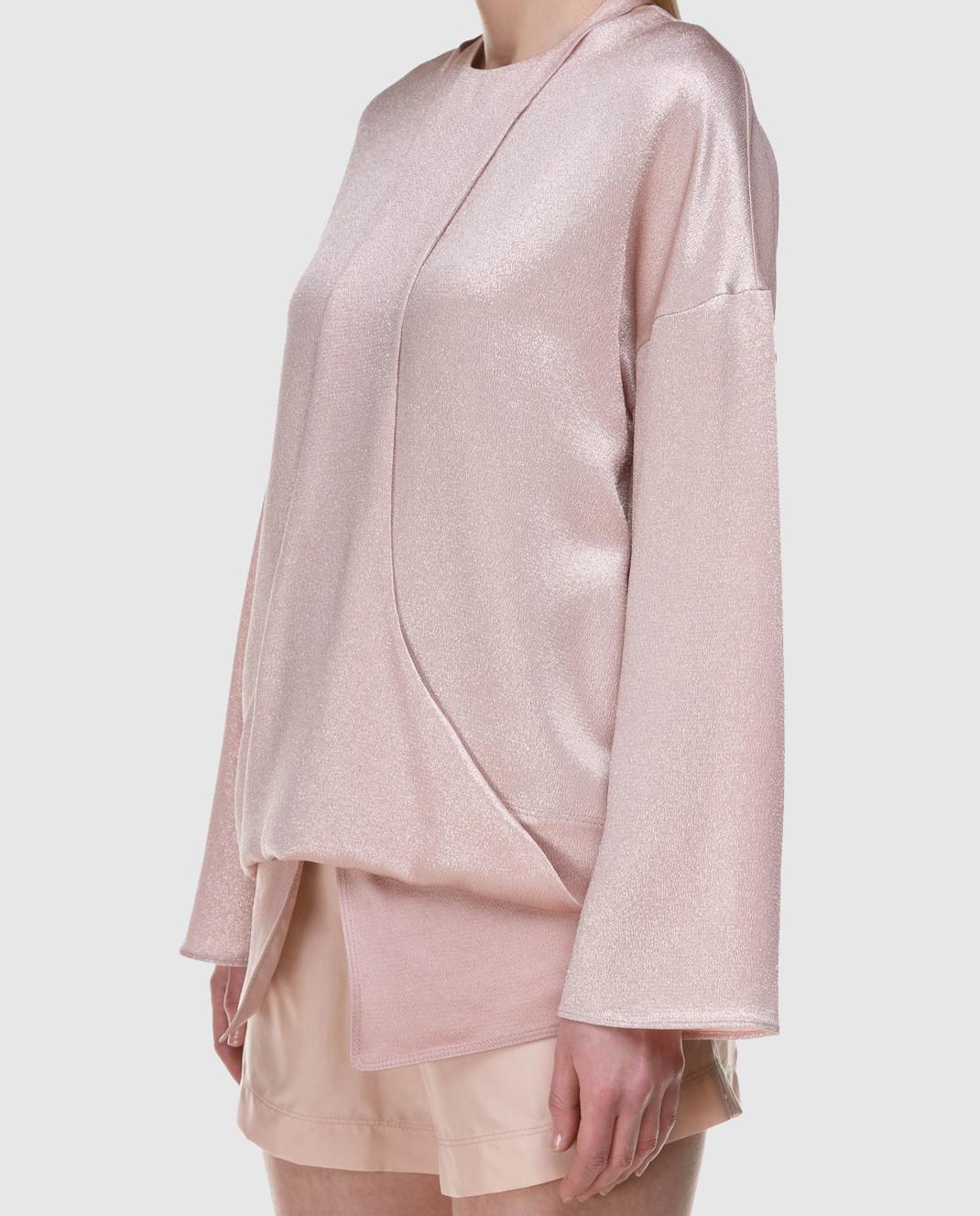 Valentino Розовая блуза PB0AE2R53VF изображение 3