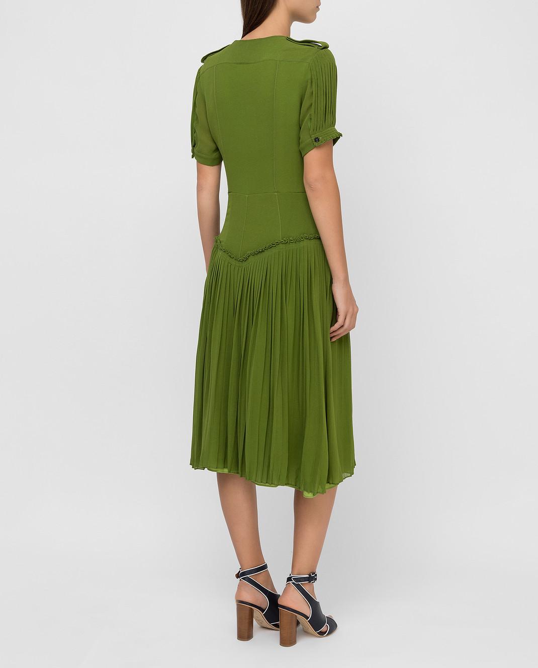 Burberry Зеленое платье из шелка изображение 4