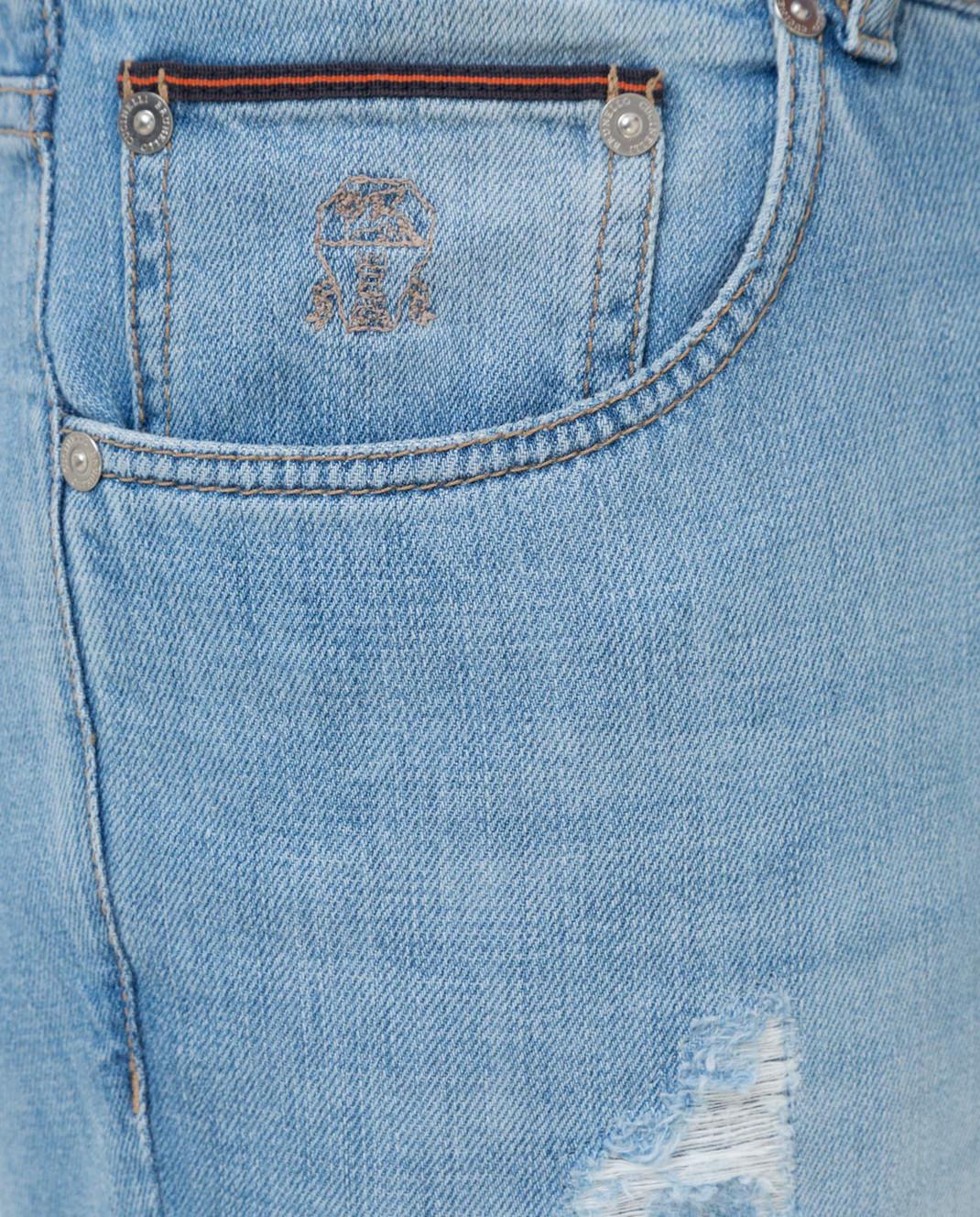 Brunello Cucinelli Голубые джинсы M0Z37D2360 изображение 5