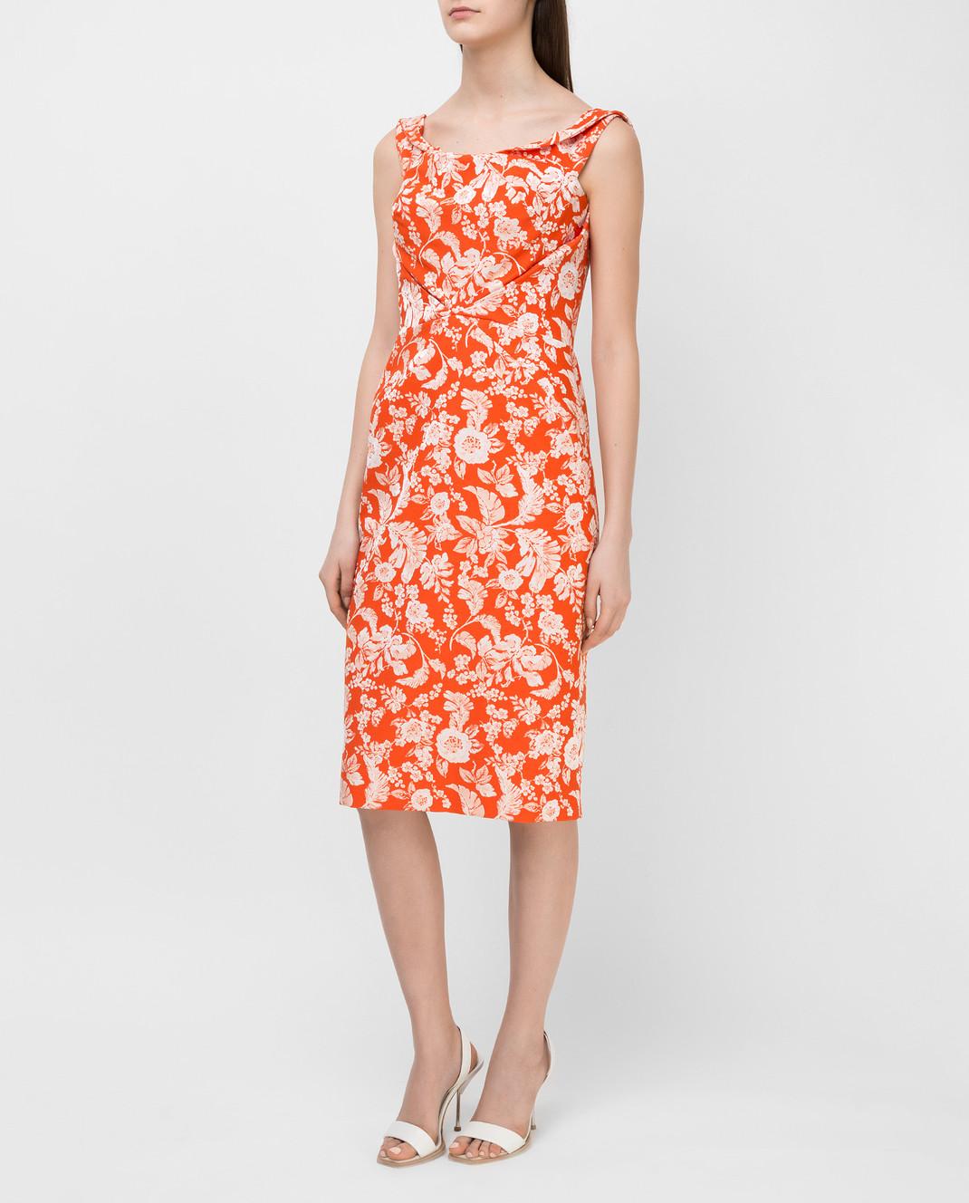 Zac Posen Оранжевое платье 23547753 изображение 3