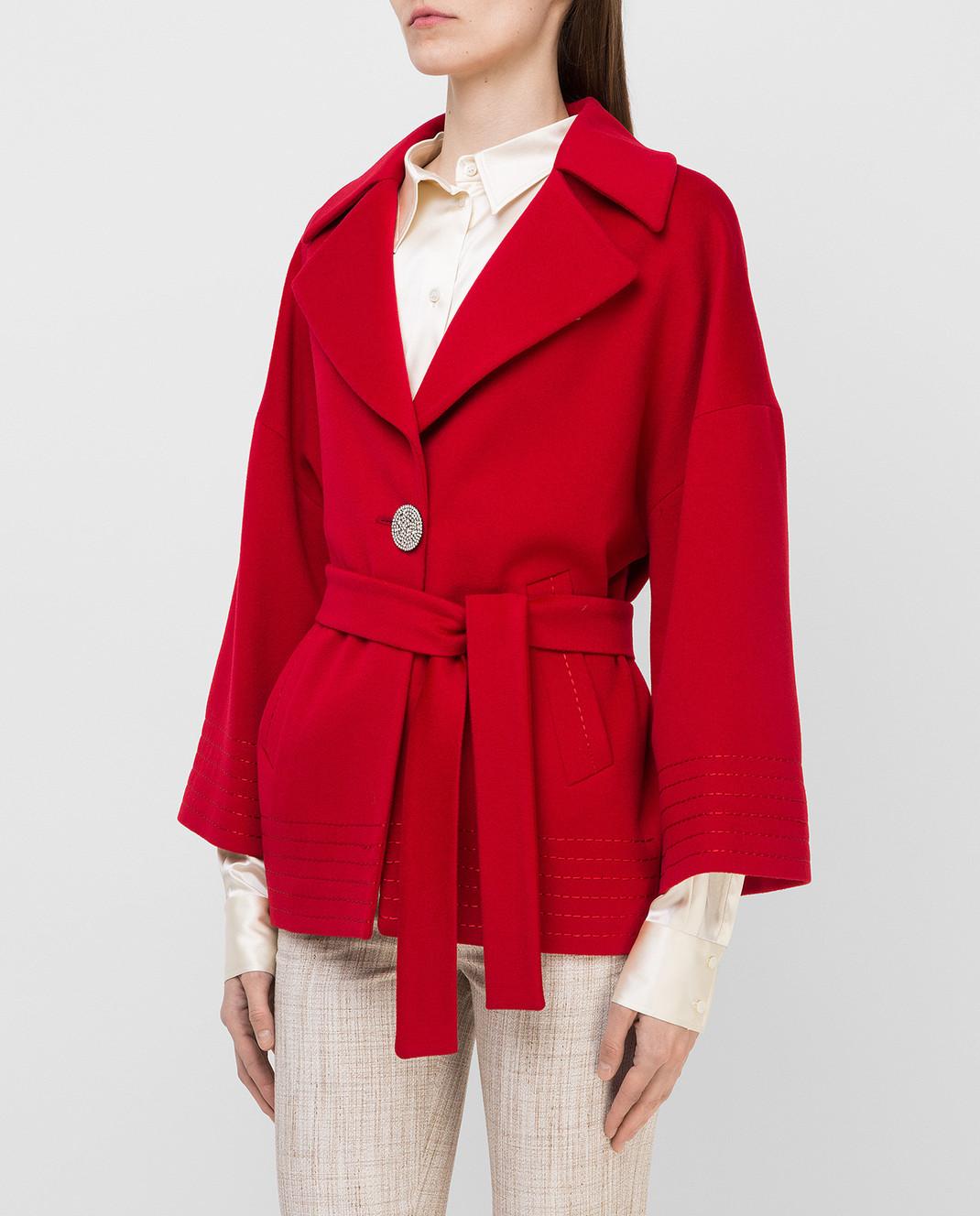 Heresis Красное пальто из шерсти K5270 изображение 3