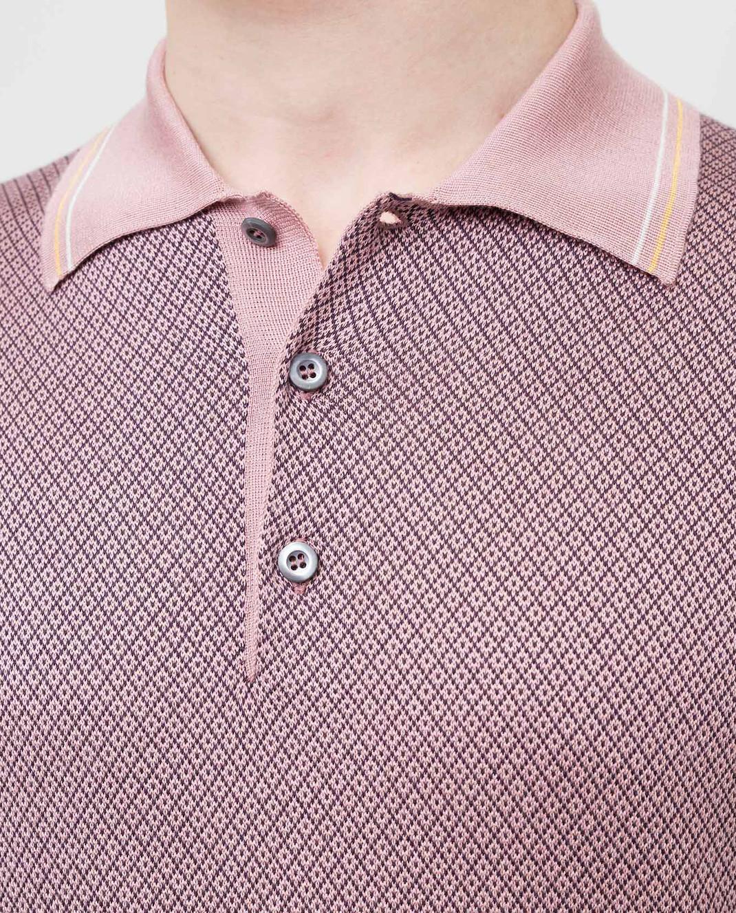 Prada Розовое поло из шелка UMB0021VSN изображение 5