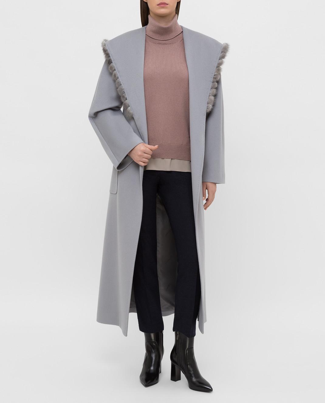 Heresis Серое пальто из шерсти M33130VIF260 изображение 2