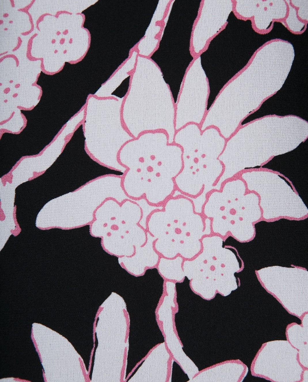 Valentino Черная юбка из шерсти и шелка PB3RA3A03Q1 изображение 5