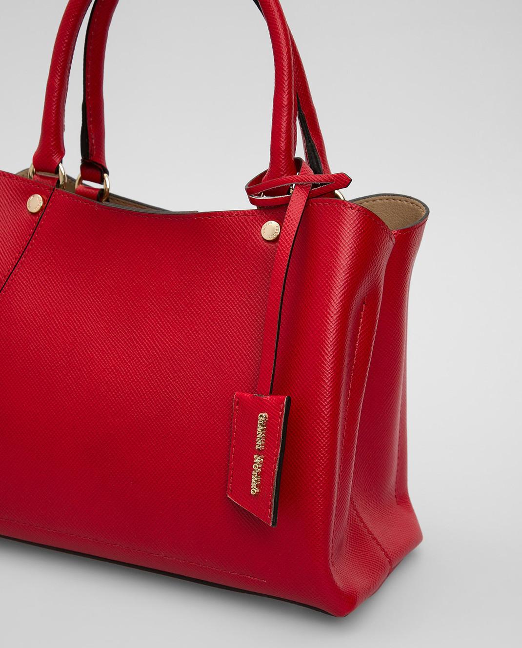Gianni Notaro Красная кожаная сумка изображение 5