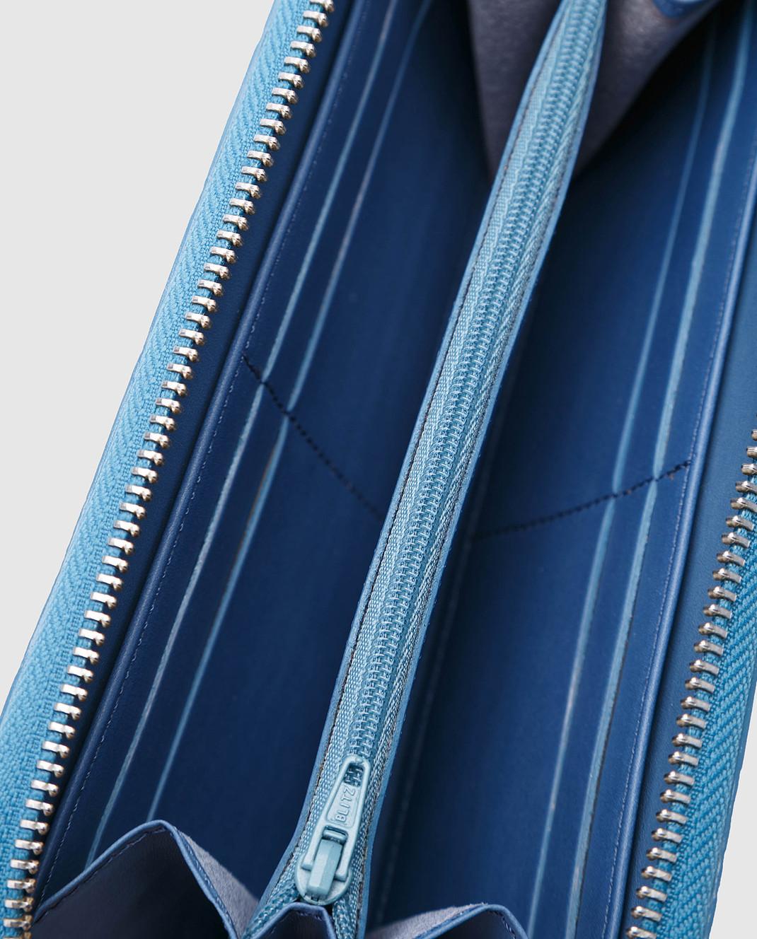 Bochicchio Голубой кожаный кошелек изображение 4