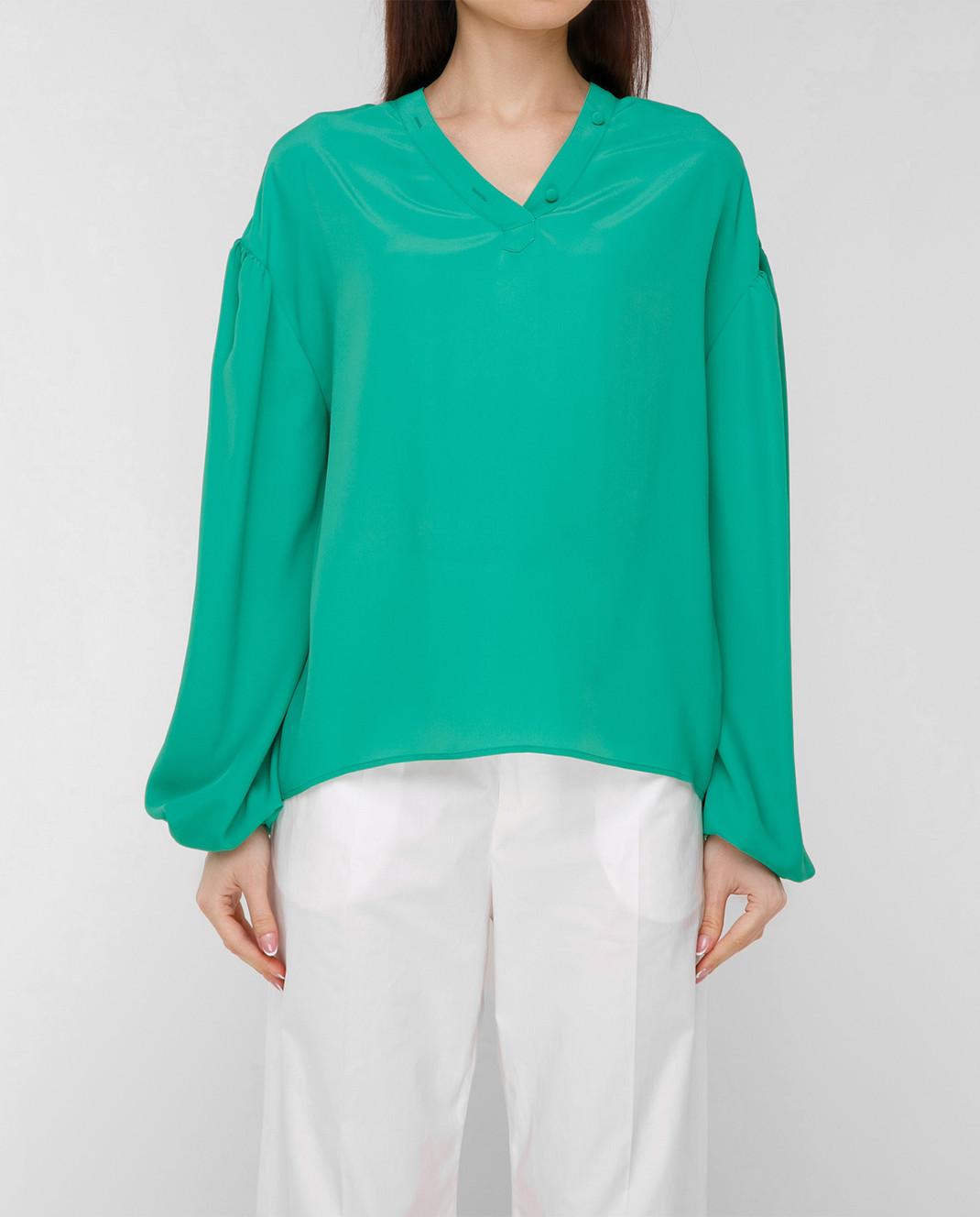 Balenciaga Зеленая блуза 456948TID36 изображение 3