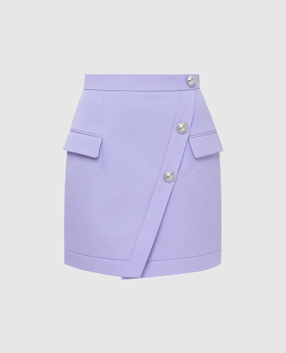 Сиреневая юбка из шерсти