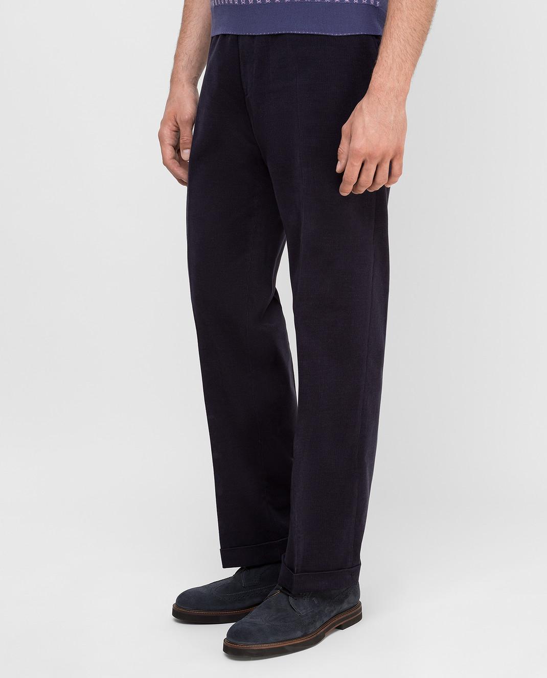 Castello d'Oro Темно-синие вельветовые брюки изображение 3