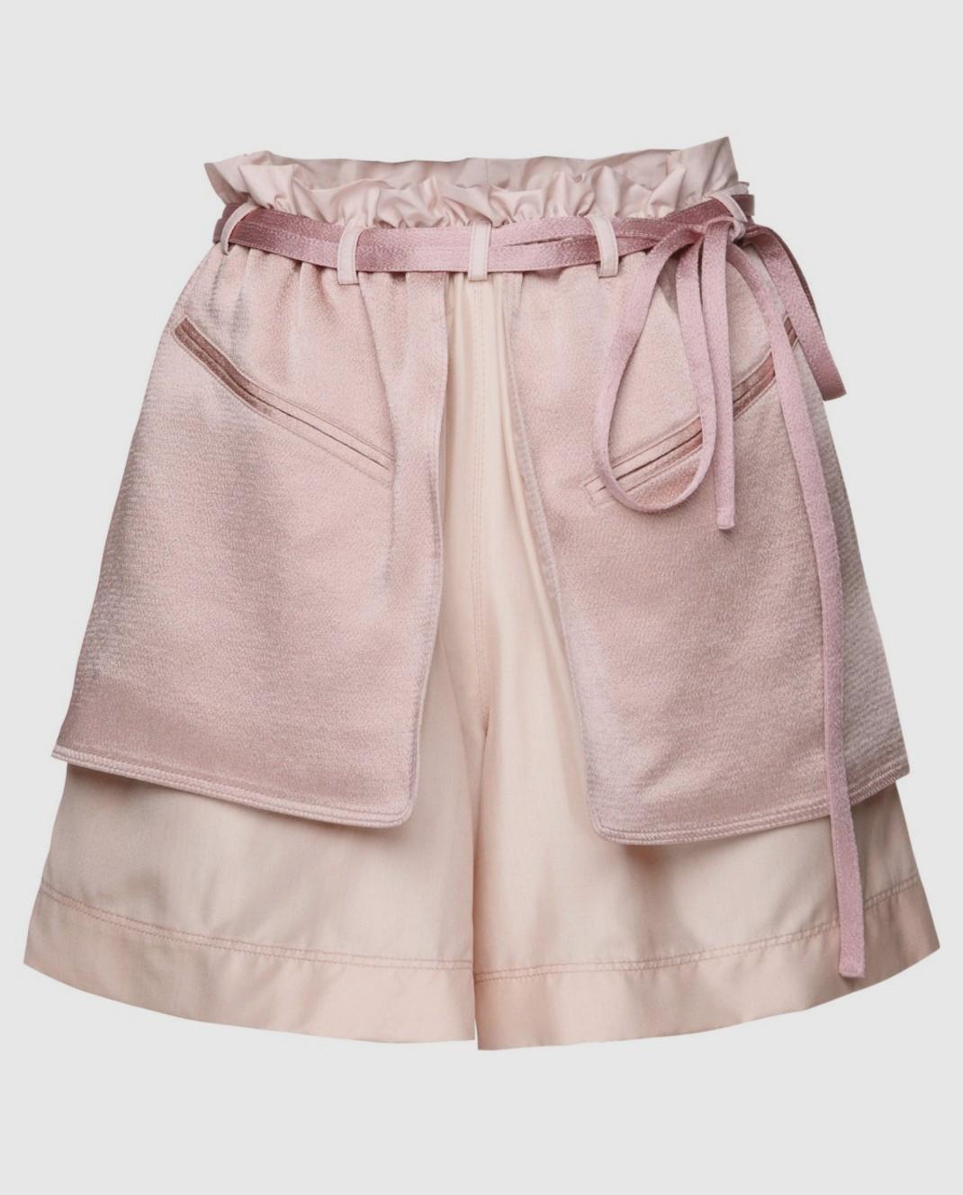 Розовые шорты из шелка и хлопка