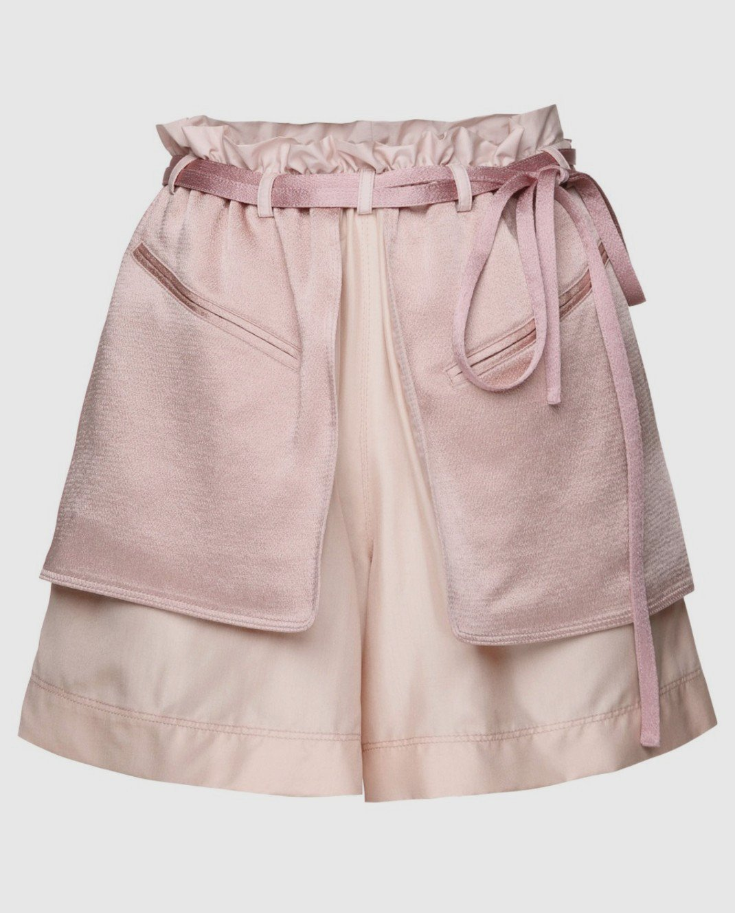 Valentino Розовые шорты из шелка и хлопка PB0RF0N537C