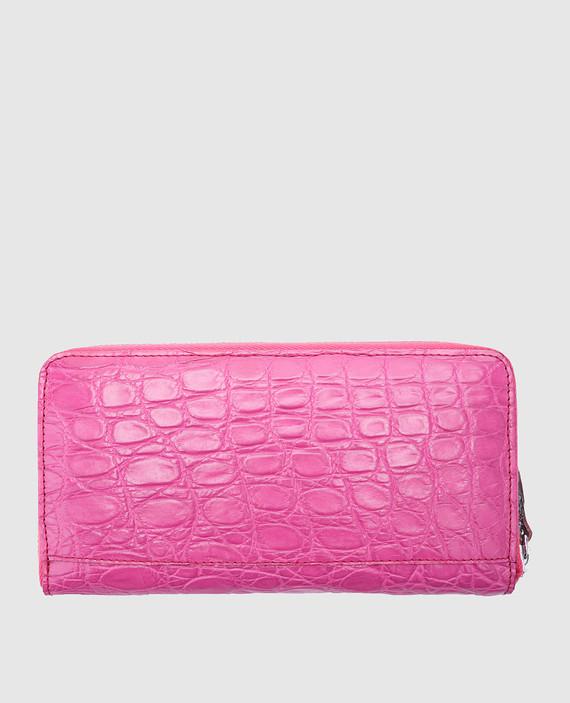 Розовый кожаный кошелек hover