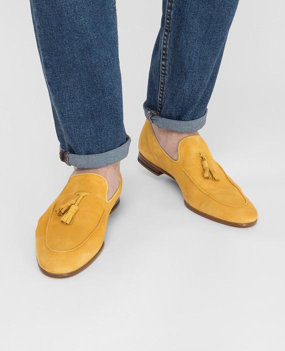 Желтые замшевые лоферы hover