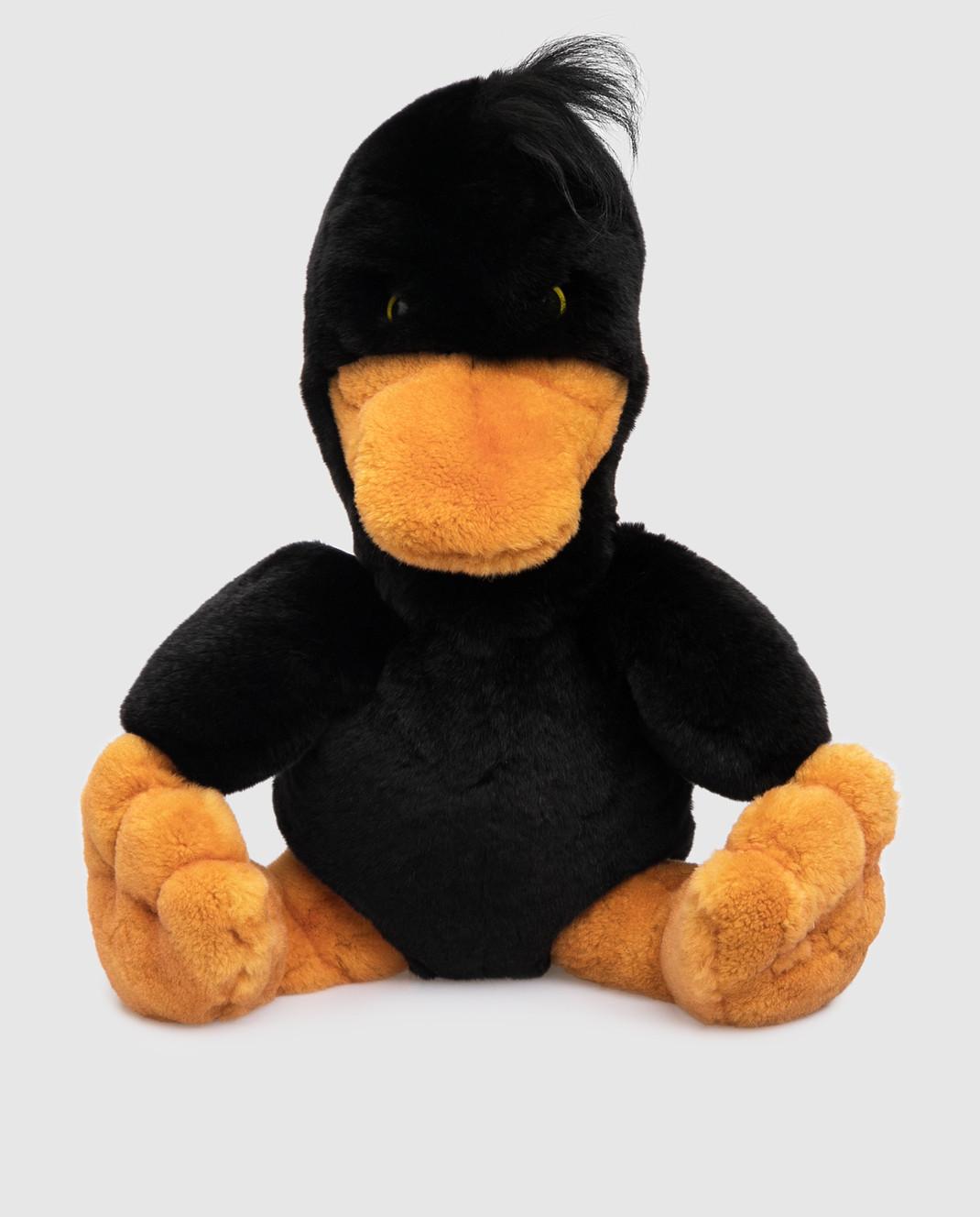 Real Furs House Детская черная игрушка утка изображение 1