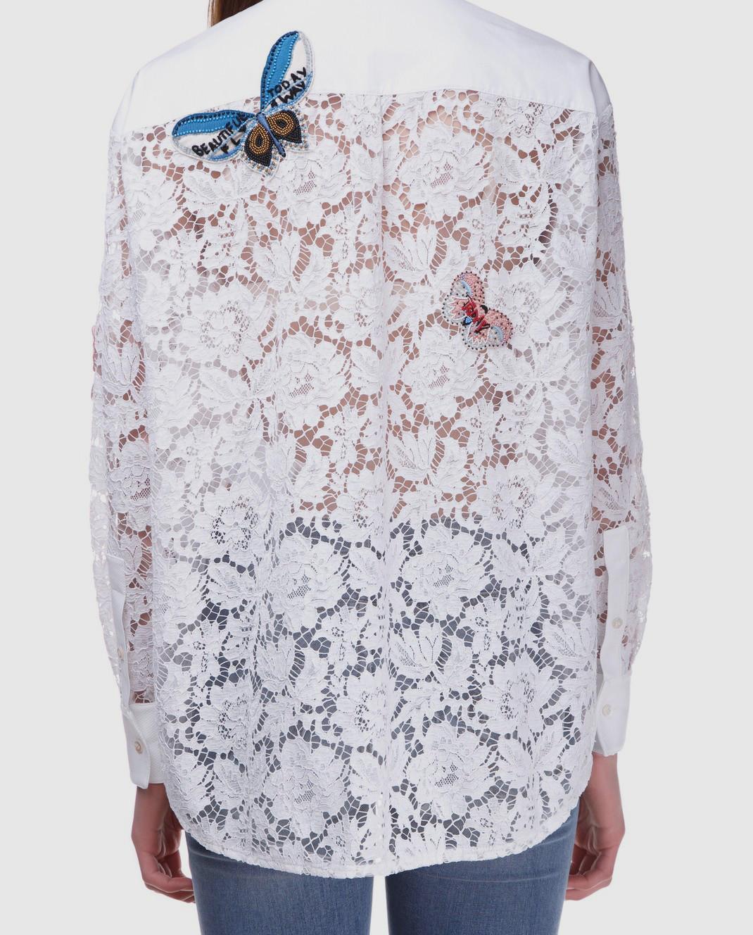 Valentino Белая блуза  PB3AB0U51EC изображение 5