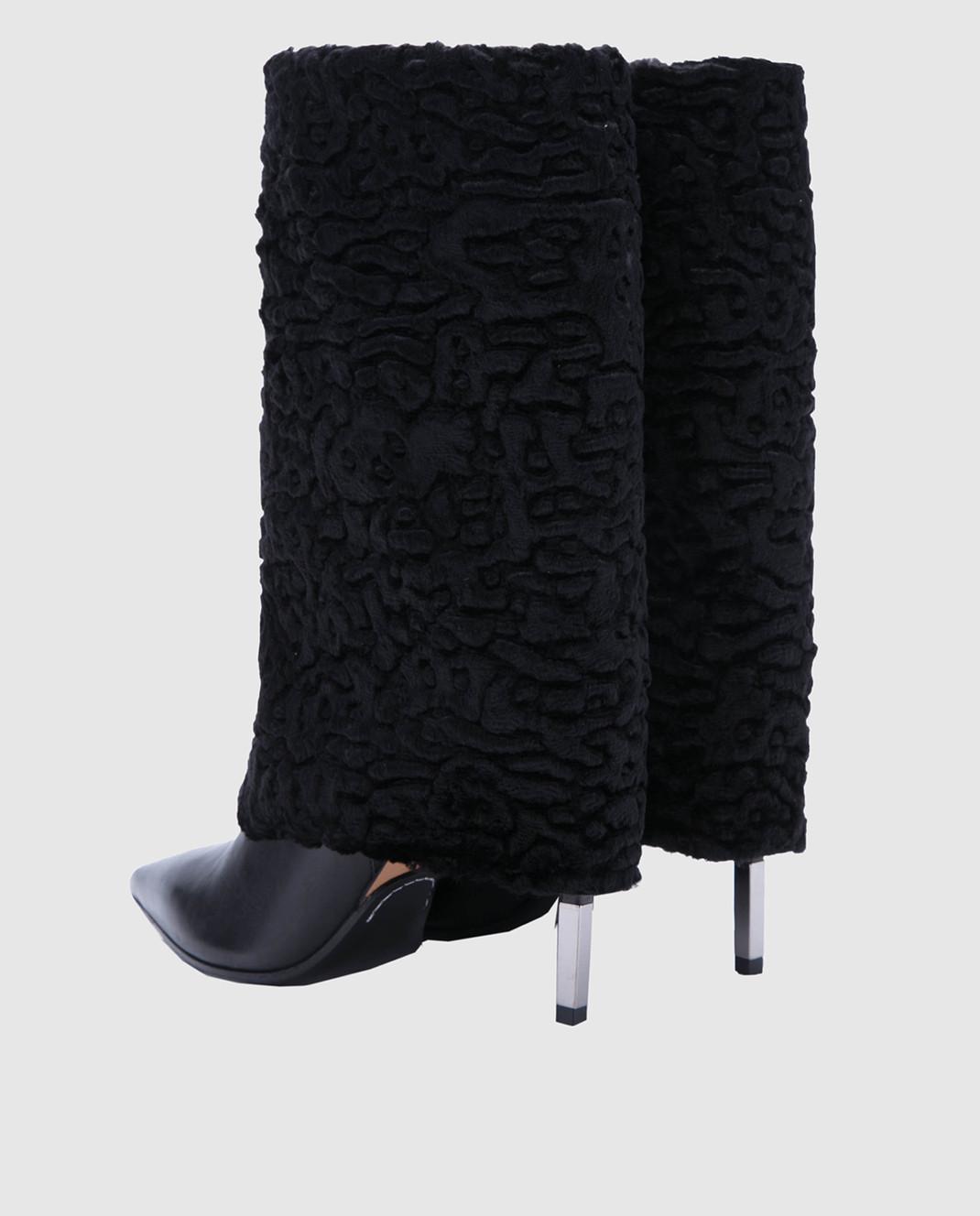 Balmain Черные сапоги W8FC315PAGB изображение 3