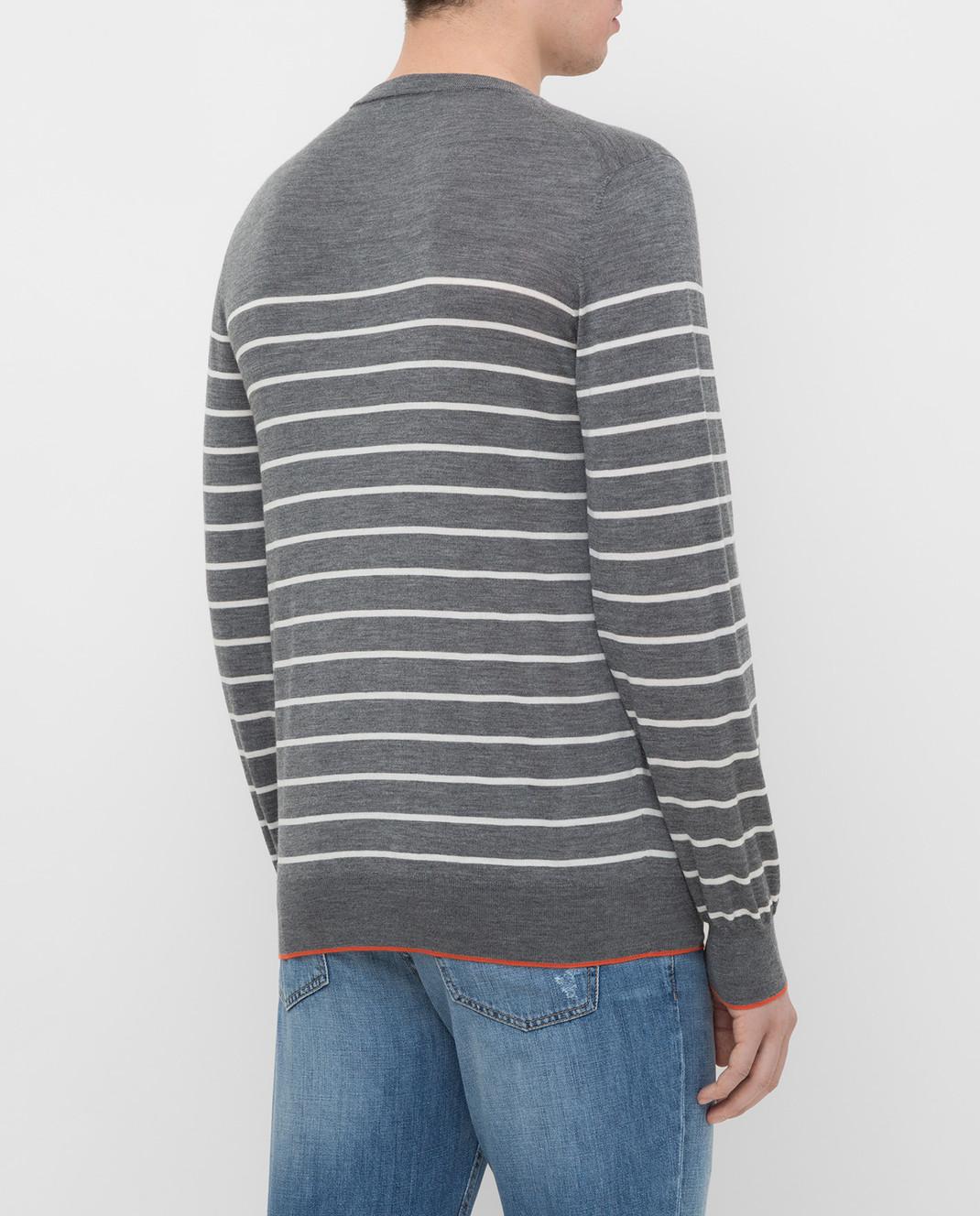 Brunello Cucinelli Серый джемпер из шерсти и кашемира M24802100 изображение 4