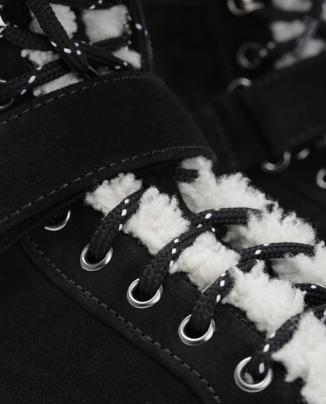 Moncler Черные замшевые ботинки 20482 изображение 5