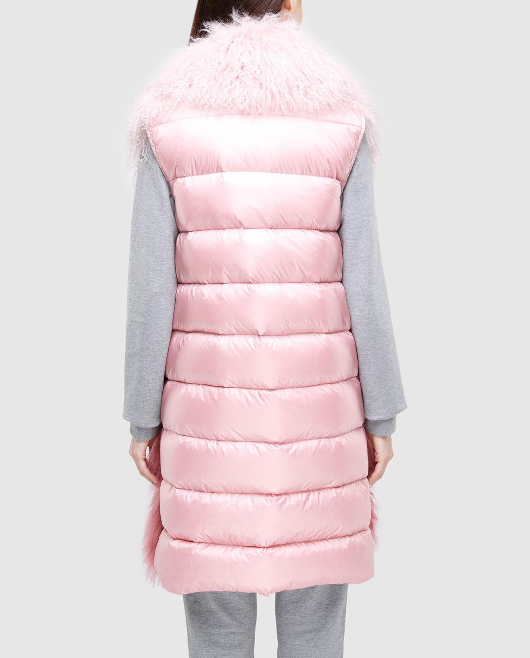 Moncler Розовый жилет из меха ягненка 48938 изображение 4