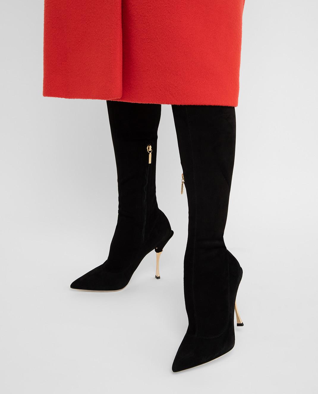 Dolce&Gabbana Черные замшевые сапоги CU0441AC700 изображение 2