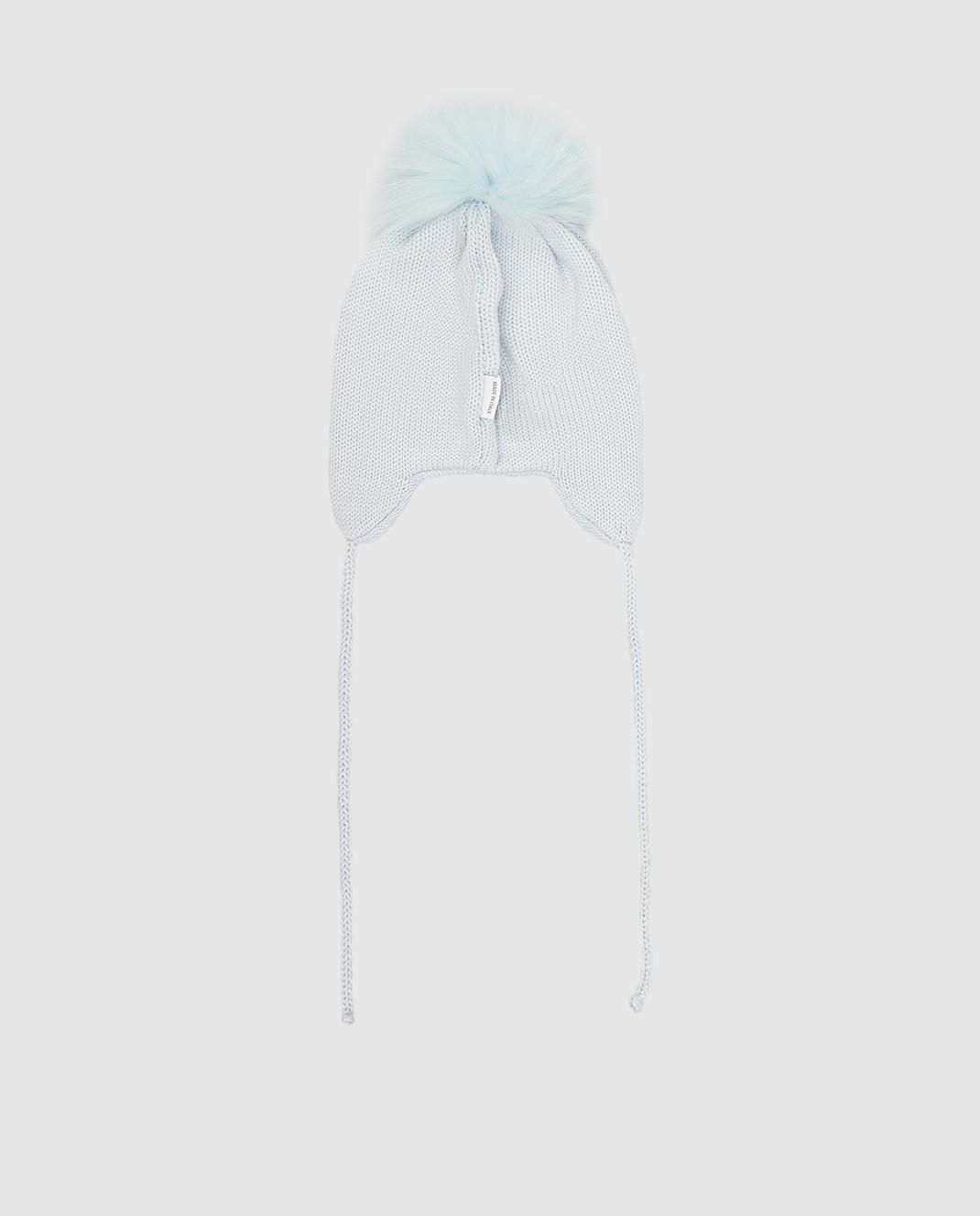 Il Trenino Детская голубая шапка из шерсти изображение 2